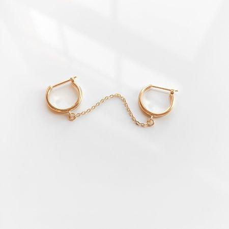 Thatch Remi Double Hoop single earring - gold