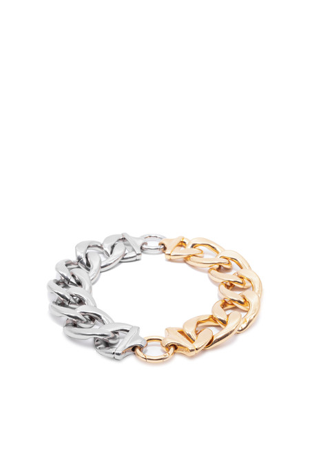 we11done mix bold chain necklace - gold & silver