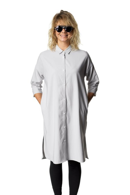 Houdini Route Shirt Dress - Ground Grey