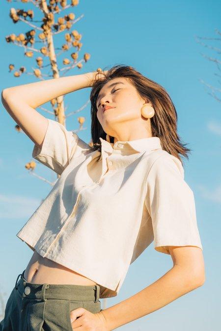 Jess Meany Herringbone Zay Top - Natural