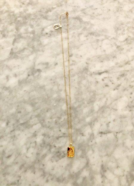 Wolf Circus Snake Pendant - 14K Gold