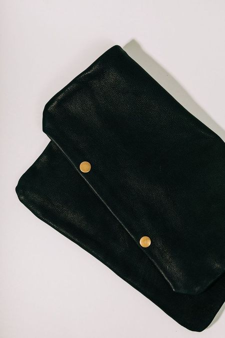 Half United The Sherry Leather Pouch - Black