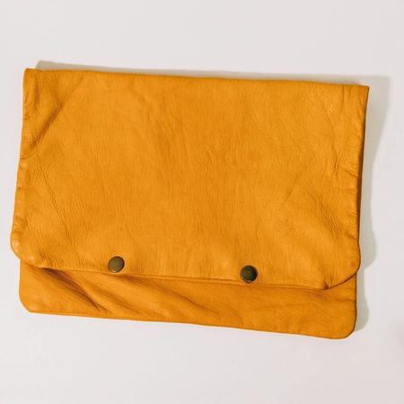Half United The Sherry Leather Pouch - Mustard