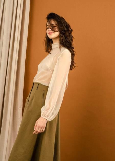 Penny Sage Mazar Skirt - Bronze