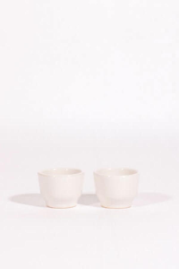Lagos del Mundo Ceramic Shot Glasses - White