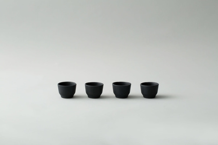 Lagos del Mundo Ceramic Shot Glasses - Black