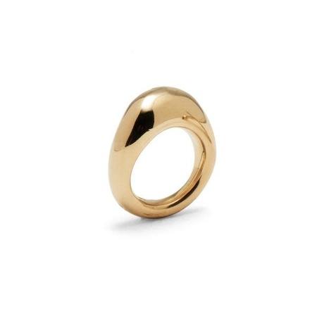 Lady Grey Organic Ring - 14K Gold Plated Bronze