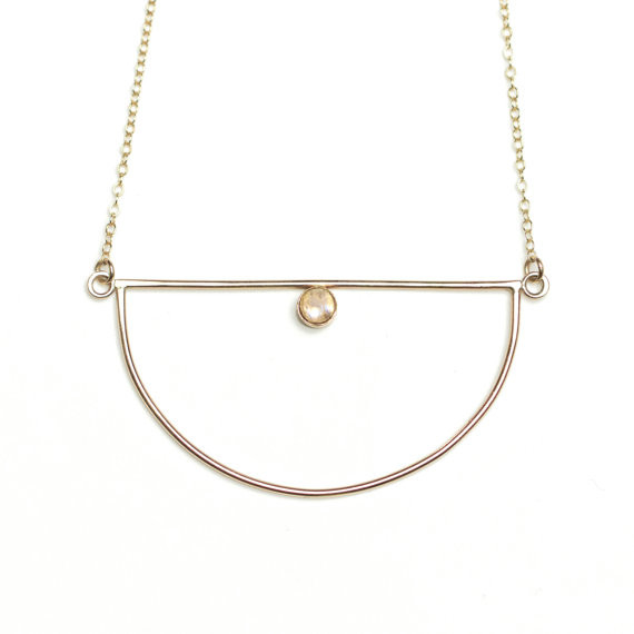 Evanescent Necklace- Gold & Moonstone