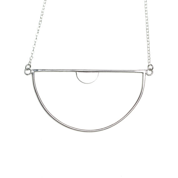 Luna Nu Necklace- Silver