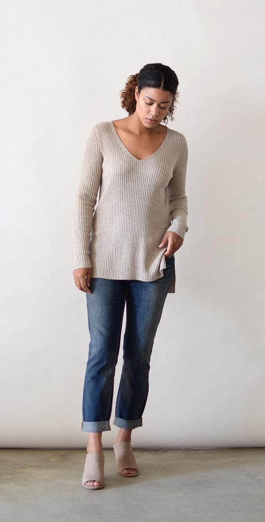 Lumiere Basic Ribbed Sweater