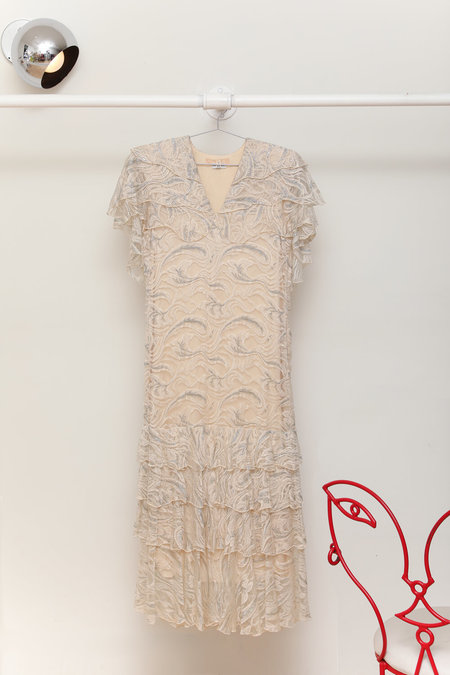 Vintage Holly's Harp Lace Dress - Ivory