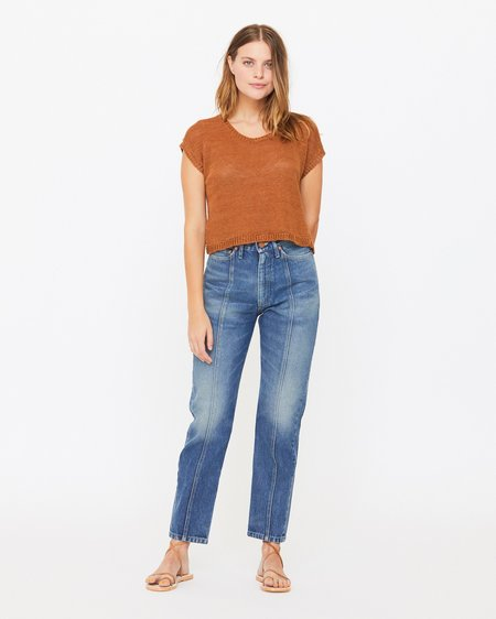 Esby LAUREL SWEATER TANK - RUST