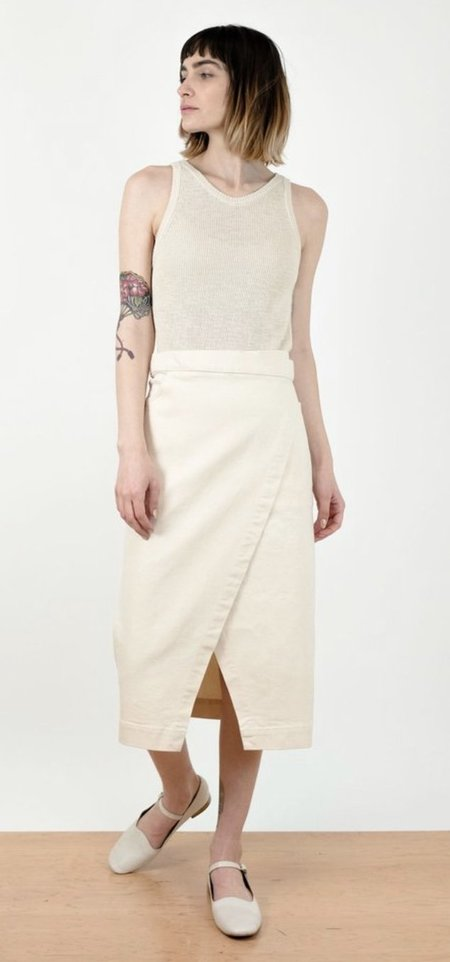 Micaela Greg Wrap Skirt - Cream