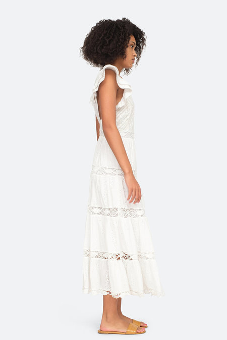 Sea NY Daisy Smocked Dress - Cream