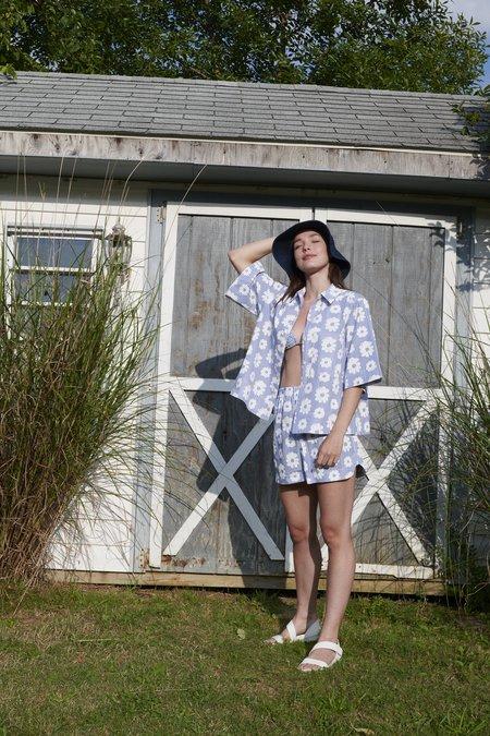WHiT Beau Shirt - Daisies/Stripe