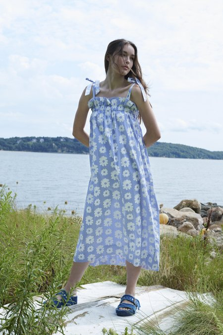 WHiT Fan Dress - Daisies/Stripe