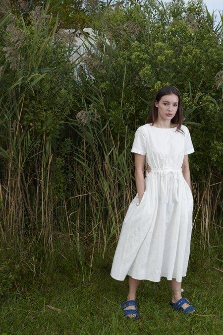 WHiT Jacquard Dot Tori Dress - White