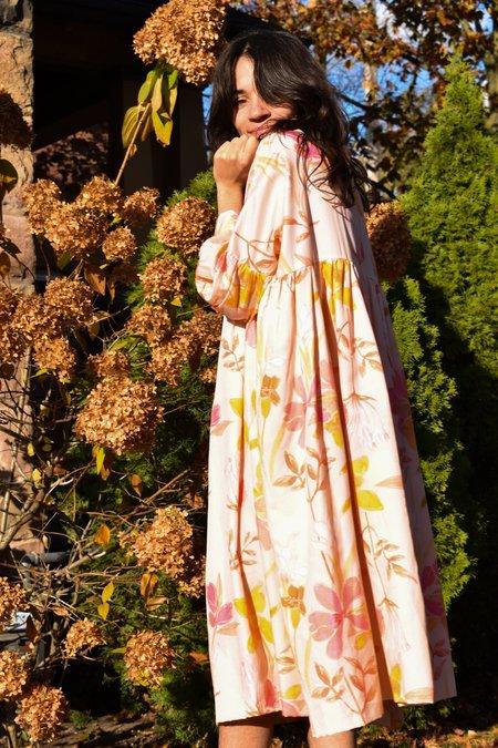 Noémiah Celia Dress - Floral Pink Silk