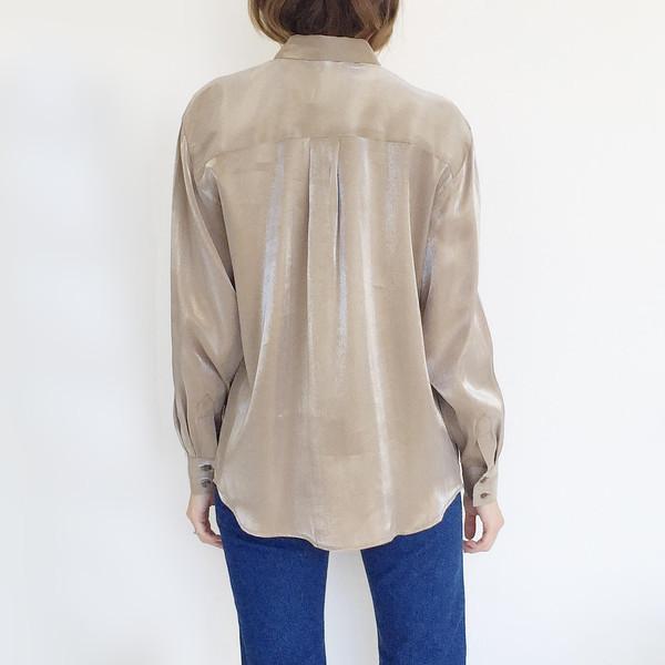 Johan Vintage Taupe Metallic Shirt