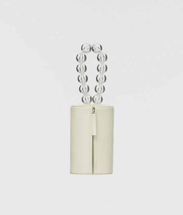 Building Block Cylinder Wristlet - Off White