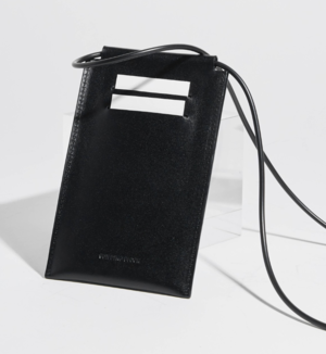 Building Block iPhone Sling - Black Leather