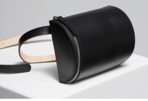 Building Block Belt Bag - Black Leather