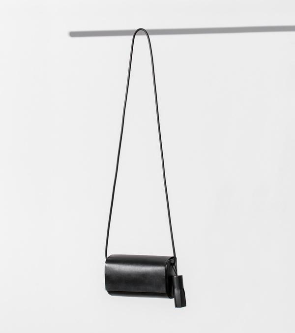 Building Block Petite Bag - Black Leather