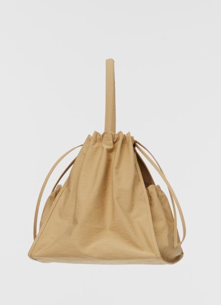 Building Block Crinkle Nylon Scrunch Bag - Khaki