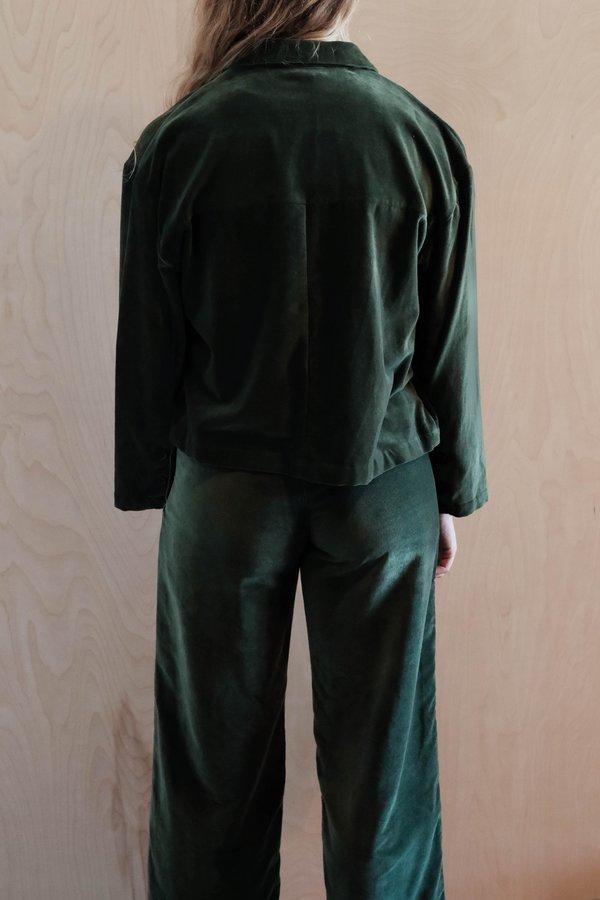 Ali Golden Side Zip Pant - Hunter