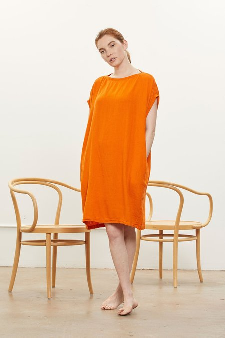 Black Crane Box Dress - Orange