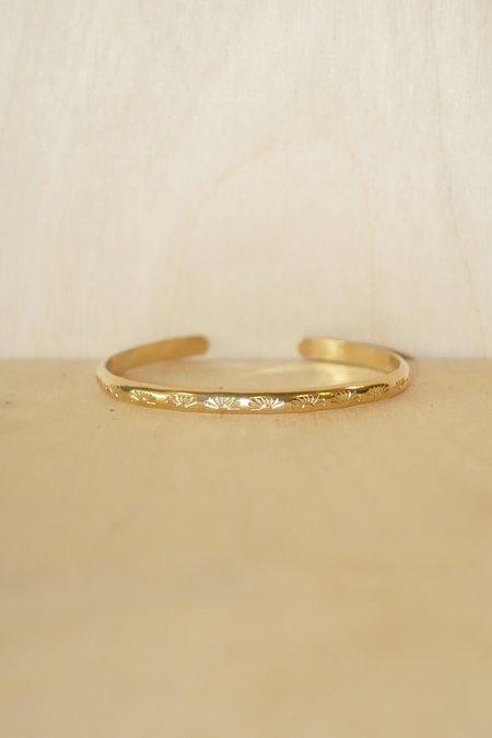 Myopic Void Gold Cuff - Gold Fill