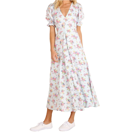 Faithfull The Brand Maggie Midi Dress - Juliette Floral Print