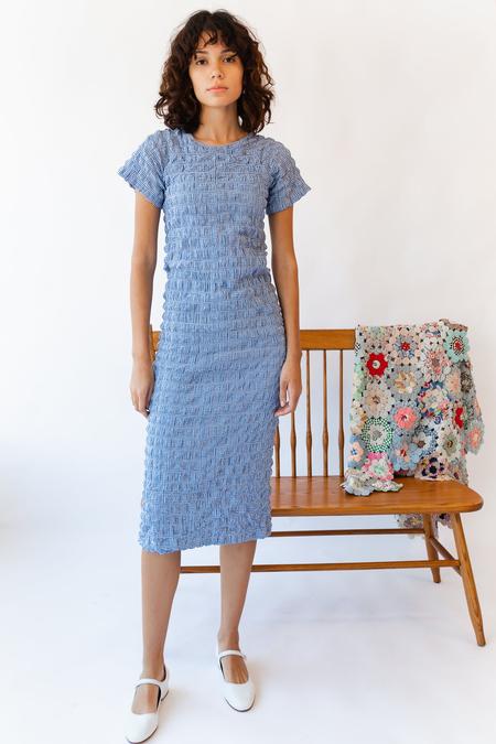 Caron Callahan Saddie Dress - Blue Gingham