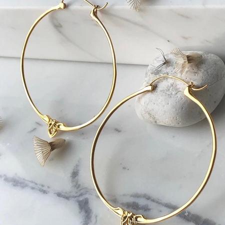 Astor + Orin Amorette hoops - gold