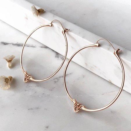 Astor + Orin Amorette hoops - rose gold
