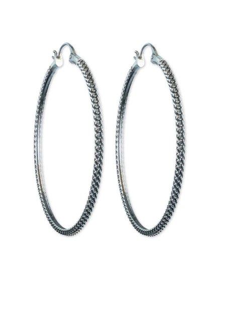 Astor + Orin Anacita hoops - silver
