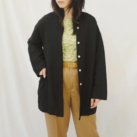 Hey Jude Vintage Onyx Linen Chore Jacket