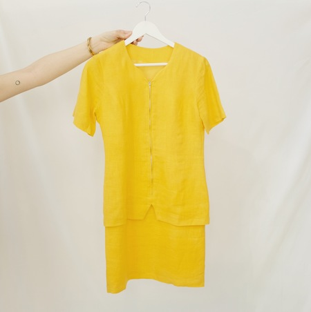 Hey Jude Vintage Marigold Linen Dress