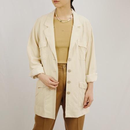 Hey Jude Vintage Cream Silk Jacket
