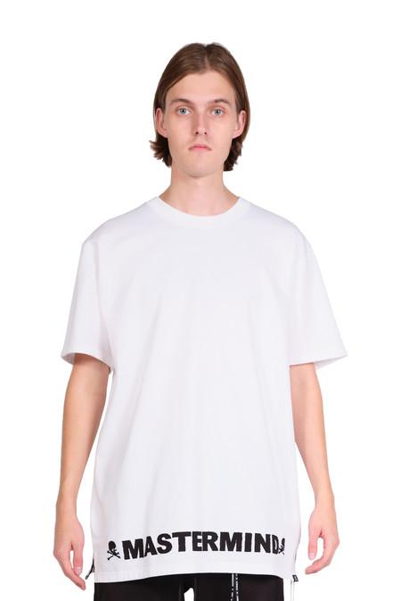 Mastermind world white fabric logo t-shirt