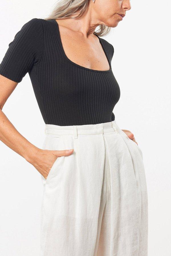 Mara Hoffman Arete Bodysuit in Black