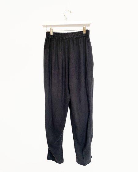 Black Crane Easy Pants in Faded Black