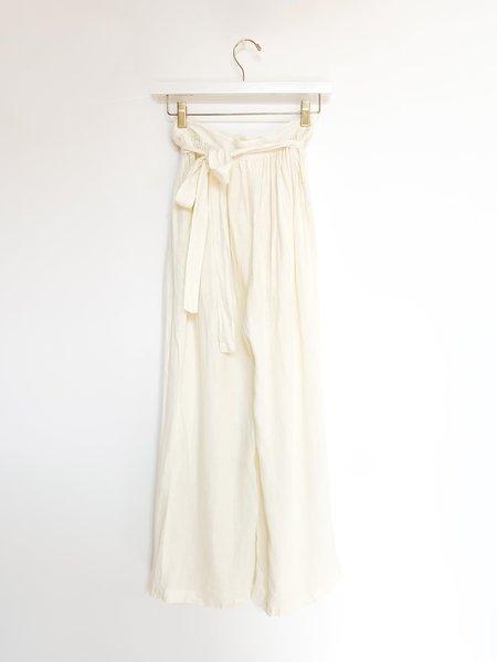 Black Crane Sack Pants in Cream