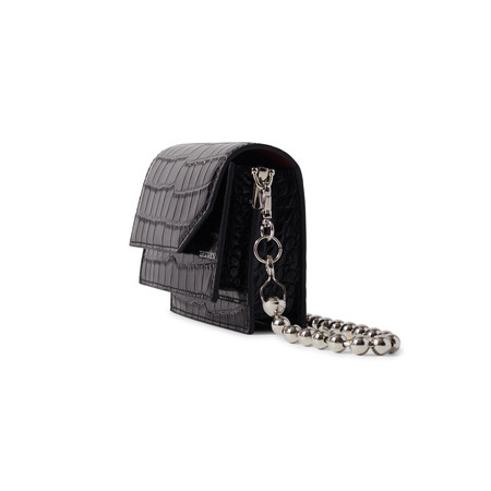 Hanwen Naomi Mini Bag - Black Croc