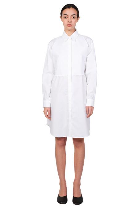MAISON MARGIELA MM6 White Poplin Shirt Dress