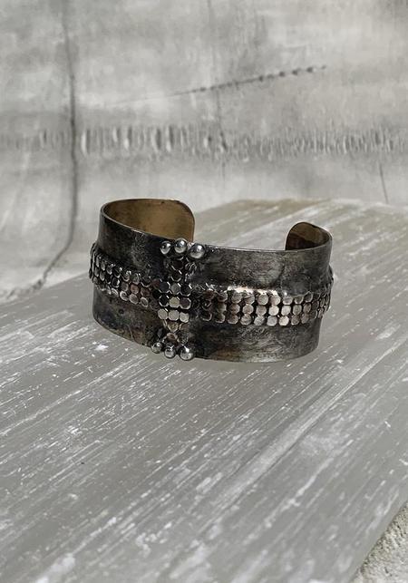 Mikal Winn Mesh Cross Cuff - Silver/Brass