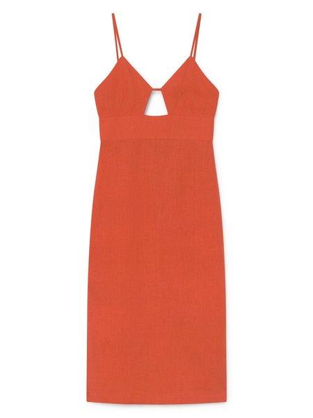 Paloma Wool Dalini Linen Dress - Red