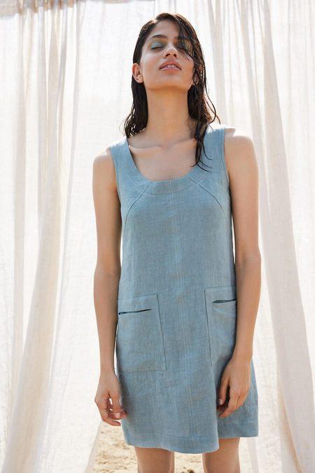 Eve Gravel Mauve Dress - Aqua