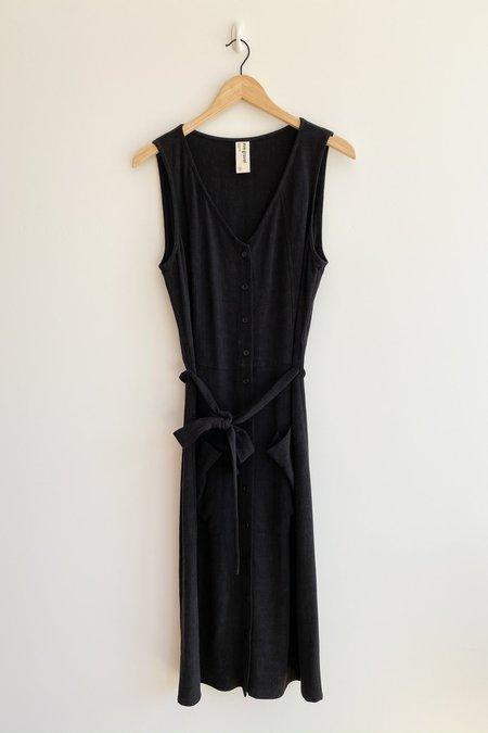Eve Gravel Orchid Dress - Black