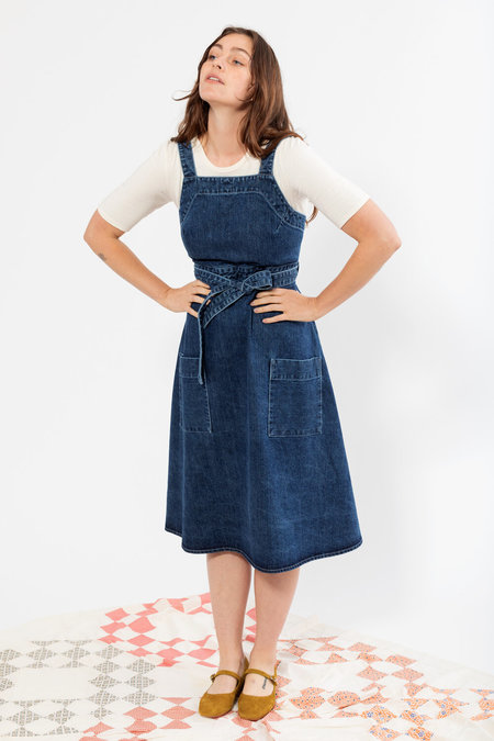 Carleen Louise Wrap Dress - Pacific Blue